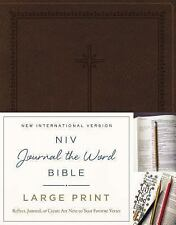 FREE 2 DAY SHIPPING: NIV, Journal the Word Bible, Large Print, Imitation