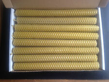 8 PCS BEESWAX  HAND ROLLED CANDLES