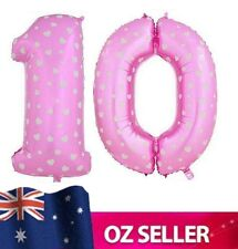 """Pink Foil Helium number 10 balloon -  40"""" inch 100cm Brithday Party AUS STOCK"""