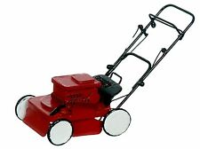 Dollhouse Miniature -  Red Power Lawnmower Lawn Mower - 1:12 Scale