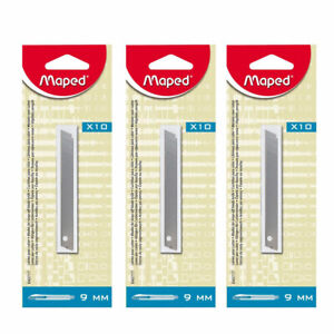 30 x Maped 9mm Snap Off Replacement Blades for Office Home Arts & Crafts