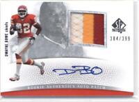 2007 SP Authentic #294 Dwayne Bowe Chiefs Jersey /399 (RC - Rookie Card) AUTO