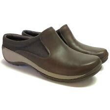 Merrell Encore Q2 Slide Mesh Women 10.5 42 Clogs Shoes Black Leather Flat NEW
