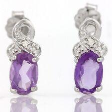 Ohrringe/Ohrstecker Jamie, 925er Silber, 0,61 Kt. echter Amethyst/Diamant