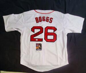 Red Sox WADE BOGGS Signed Autographed custom baseball Jersey JSA COA