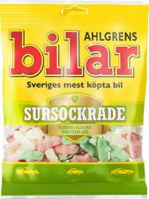 Ahlgrens Bilar Sursockrade - Sour Fruit Marshmallow Cars Candy Bag 100g, 8-pack