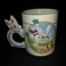 Easter Bunny Snorkeling For Eggs Coffee Tea Mug Cup Swimming Diving Rabbit 12 oz