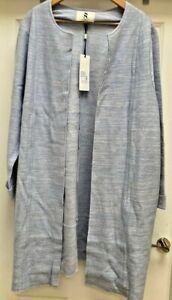 Womens Studio 8 London Pale Blue Paula Coat - UK Size 22