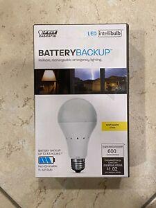 Battery Backup LED 40W Equivalent Soft White Bulb A21 FEIT Electric IntelliBulb