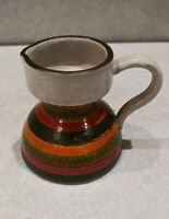 Small Ceramic Pitcher Creamer Handle Multi Color Wide Bottom