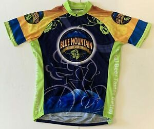 Blue Mountain Brewery Jackroo Cycling Jersey Mens Large Full Zipper Back Pockets