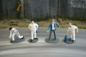 Painted Race Crew - White - 1/32 Scale - Scalextric Carrera Ninco Scenery
