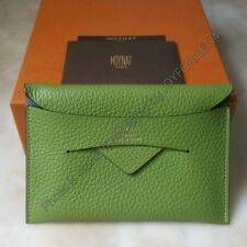Auth MOYNAT Enveloppe Passport Holder in Taurillon Gex - Green