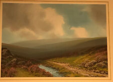 Moorland Landscape Watercolour Dartmoor Signed Sherrin Original Painting