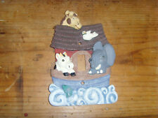 Single switch light outlet plate cover Noah's Ark friendly animals nursery sweet