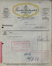 NEUSTADT b. Coburg, Rechnung 1933, Rosenthal Porzellan-Fabrik Bahnhof Selb GmbH