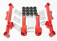 Fit 79-04 Ford Mustang GT LX Red Racing Rear Upper & Lower Tubular Control Arms