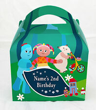 In the Night Garden Children's Personalised Party Boxes Favour 1ST CLASS POST
