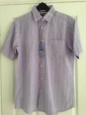M&S Man Lilla Righe Camicia A Maniche Corte Taglia S Torace 91.4-96.5cm