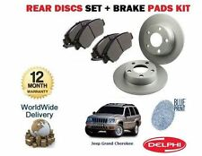 FOR JEEP GRAND CHEROKEE 2.7DT 2001-12/2004 REAR BRAKE DISCS SET + DISC PADS KIT