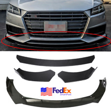Car Front Bumper Lip Chin Side Winglet Splitter Body Kit Carbon Fiber Abs 3Pcs (Fits: Mazda)