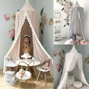 Kids Children's Bed Lace Canopy Bedcover Mosquito Net Curtain Bedding Dome Tent