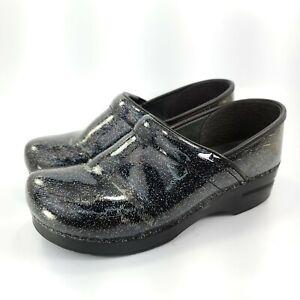 Dansko Professional Comfort Slip On Clog Womens Size 9.5-10 40 Black Glitter