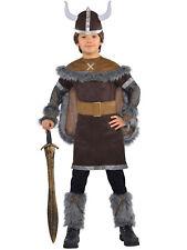 New w/Defects-Child Kids Boys Age 8-10Yr Viking Warrior Costume Fancy Dress Saxo