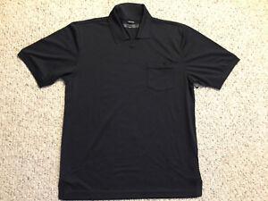 "NEW NWT Oakley ""19th Hole"" Golf Polo Shirt Athletic Black Men's Medium"