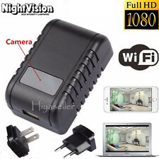 Mini 1080p Wifi HD Spy DVR Hidden Camera AC Plug Night Vision Video Recorder #03