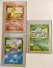 Pokemon SQUIRTLE, BULBASAUR & CHARMANDER 1st Edition (3 CARDS) FRENCH Base MINT