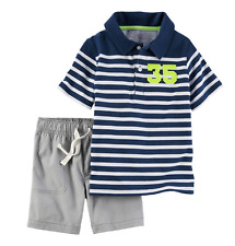 Carter's 2-Piece Polo & Short Set 12M Blue