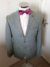 RIVER ISLAND Men's Pale Green Blazer/Smart Jacket Medium Valley Mills 100% Silk
