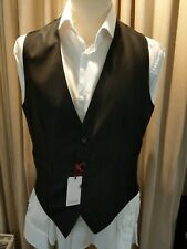 SARTORIA PARTENOPEA WAISTCOAT - 4 BUTTON - HANDMADE - GREY - MANY SIZES