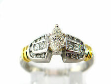 1.12 CT Engagement ring natural diamond 950 Platinum & 18K Gold