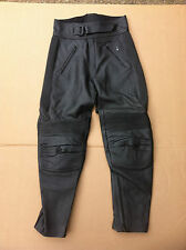 "FRANK THOMAS Mens Leather Motorbike / Motorcycle Trousers UK 26"" Waist (#122)"