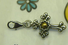 NWOT Brighton cross with gold plated dot star sun lobster claw clasp charm NEW!