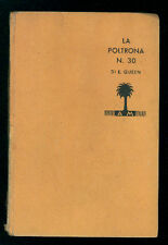 QUEEN ELLERY LA POLTRONA N. 30 MONDADORI 1934 I° EDIZ.