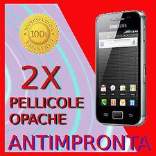 2 Pellicola Per Samsung Galaxy Ace S5830 Opaca Protezione Antimpronta Pellicole