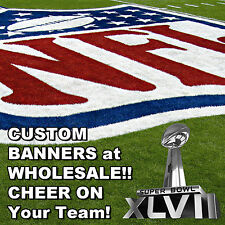 3ft x 16ft - Custom Team Flags & Banners for 49ers, Ravens, or Any FootBall Game