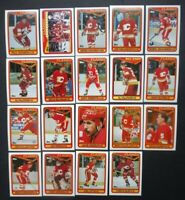1990-91 Topps Calgary Flames Team Set of 19 Hockey Cards