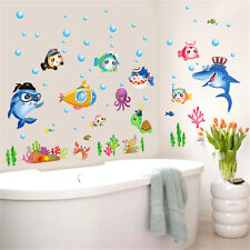Cartoon Fish Ocean Room Home Decor Removable Wall Stickers Decals Decoration