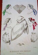 21-51-6 Gravure couleur mode le magasin des familles août 1860