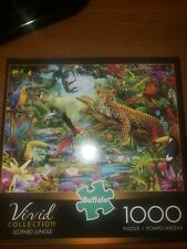 Buffalo Vivid Collection Leopard Jungle 1000 Piece Puzzle New