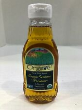Orgave organic sweetener Premium Natural Pure Blue Aqave 12 oz bottle