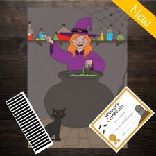 Pin the Wand on the Witch - Kids Halloween Party Game - 20 Player - Costume