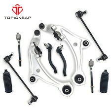 10Pc Control Arm Ball Joint Tie Rod Sway Bar Link Boot Steering Suspension Kit