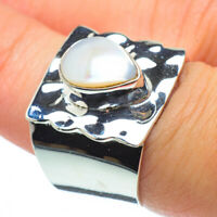Cultured Pearl 925 Sterling Silver Ring Size 7.75 Ana Co Jewelry R30575F