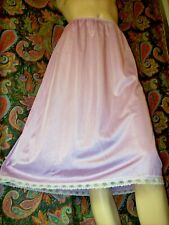 Vintage Purple Silky Nylon Tricot A-line Half Slip Lingerie L