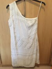 BNWT WHITE SOUTH EMBELLISHED ONE SHOULDER DRESS SIZE 12